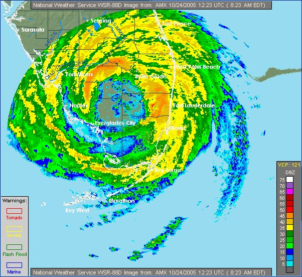 The last hurricane to make landfall in Florida - hurricane Wilma, October 24, 2005. Not a single hurricane anywhere in Florida since...